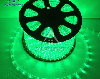 Custom Sized (Custom Length) LED Rope Lights for Patio, Backyard, Eaves, Roofs, Windows or Business etc. - Green