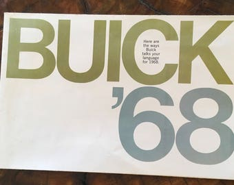 Buick Fold Out Sales Brochure for 1968
