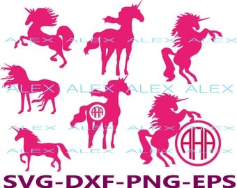 70% OFF, Unicorn SVG, Unicorn Monogram Frame Files svg, Unicorn png, eps, svg, dxf File, Silhouette studio - cutting file