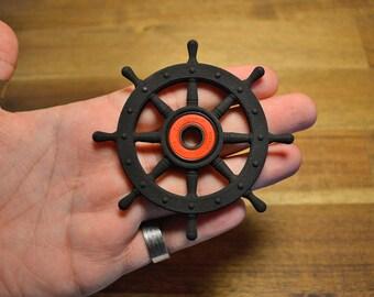 Pirate Ships Wheel Fidget hand spinner - Black