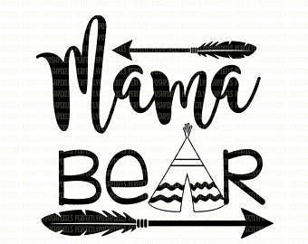 Mama Bear .svg file for Cricut and Silhouette