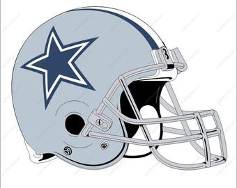 Dallas Cowboys svg football helmet svg Cutting File in Dxf  Eps Png Ai  for Studio for Cricut & Silhouette Digital File