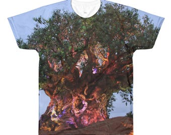 Animal Kingdom All Over Printed Tee. Tree Of Life Shirt.