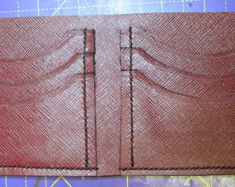 Mens hand made wallet/billfold with 6 cardslots