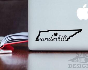 Vanderbilt Permanent Vinyl State Decal - Custom Colors!