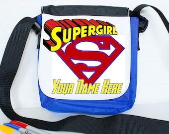 Super hero school packed lunch bag - personalised lunch bag, lunch box, super girl lunch, school gift, food bag, academic gift, small bag