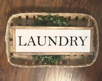 Laundry Wood Sign, Farmhouse Style, Laundry, Laundry Room Sign, Farmhouse Wood Sign, Rustic Decor, Wood Signs, Home Decor, Wall Decor