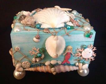Mermaid jewelry box