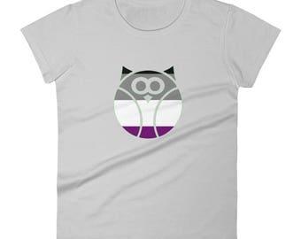 Ace Pride Owl Women's short sleeve t-shirt lgbtq lgbt lgbtqipa queer gay transgender mogai asexual