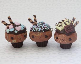 Loaded Chocolate Cupcake Charms