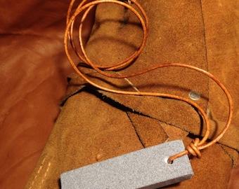 Medium grit viking whetstone bushcraft beserker woodcraft green wood work whetstone pendant