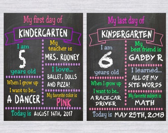 2 School chalkboard template SVG bundle, first day of school svg, Last day of school svg, back to school svg, Circut, Cameo, chalkboard svg