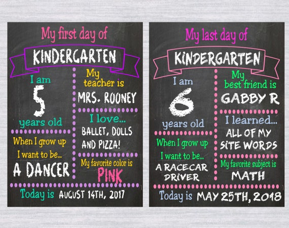 First Day Of Template | 2 School Chalkboard Template Svg Bundle First Day Of School