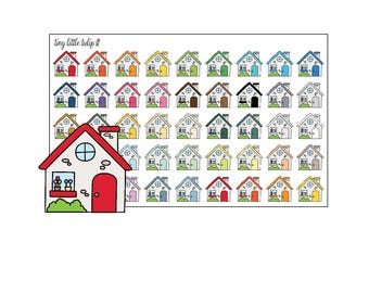 Planner Stickers Multicolor Houses