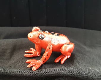 Toxic, poison dart frog, polymer clay figurine