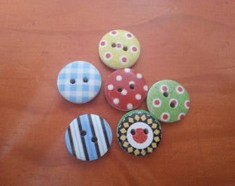 set of 10 small round buttons for clothing