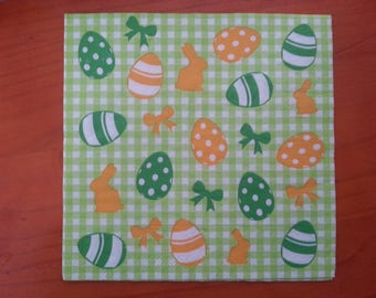 Easter themed paper napkin