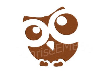 10 Sizes**Owl Embroidery design- 8 formats machine embroidery design - Instant Download machine embroidery pattern