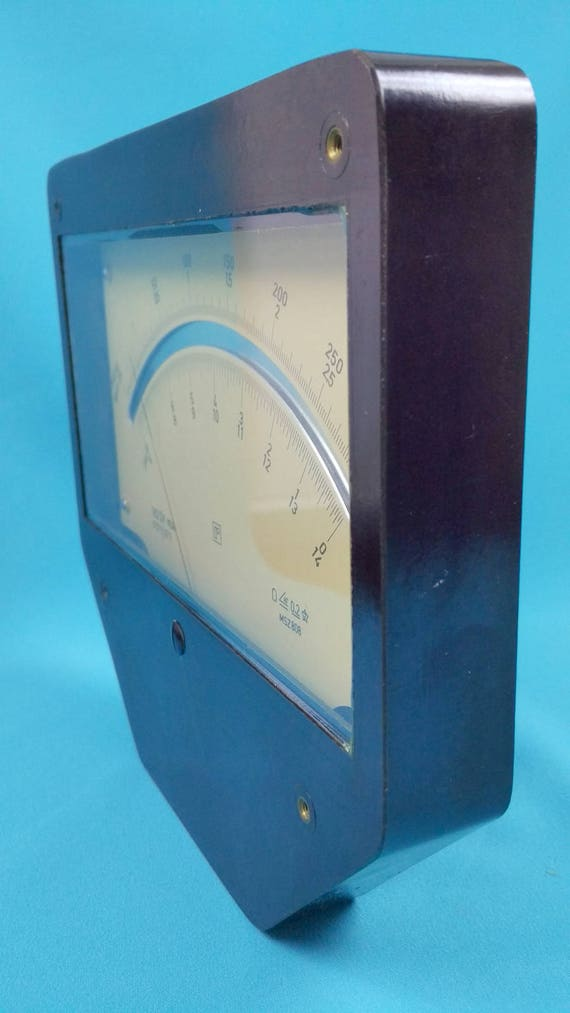 Electrical Measuring Devices : Rare giant analog arrow indicator msz radelkis