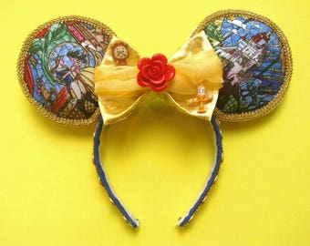 Beauty and the Beast Disney Ears | Belle | Mickey Ears | Minnie Ears