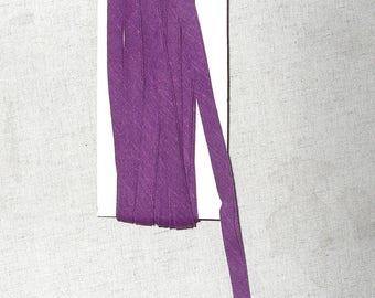Through purple folded cotton - 9mm wide