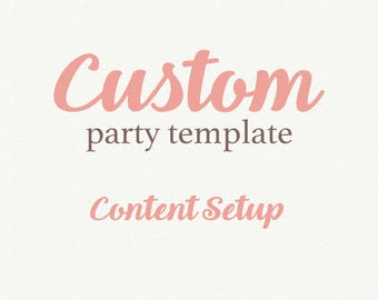Add On Wedding Template, Content Setup,  Add On Party Template, Party Template, Printable Wedding, Invitation template, Wedding invitation