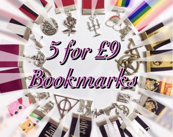 5 Bookmark Deal - Ribbon Bookmarks