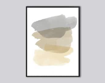abstract wall art, Abstract art print, Modern watercolor wall art, Grey, abstract watercolor print, minimalist abstract, abstract painting