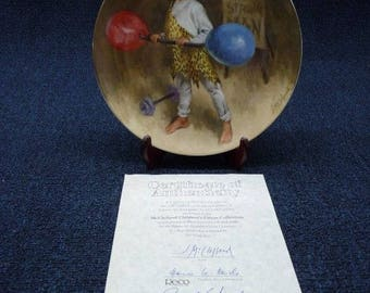 """John Mc Clelland Childrens Circus Series """"Johnny The Strong Man"""" Plate"""