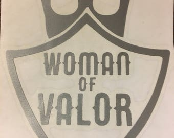 Woman of Valor decal