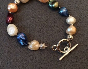 One of a kind pearl bracelet