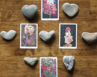 Heart Stones - Natural Heart Shaped Beach Rocks - for Sea Witch Altar or Love Token