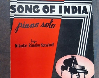 Song of India by N Rimsky Korsakoff Piano Solo