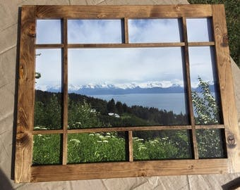 vintage inspired window picture frame window styled artisan designed picture frame rustic country - Window Picture Frame