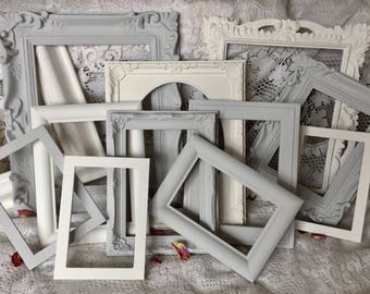 Shabby Chic Frames Ornate Painted Photo Picture Frames Vintage Frame Set Wall Decor Wall Gallery ** MADE TO ORDER **