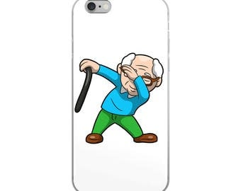 Dabbing Grandfather Funny iPhone Case - Iphone 7 case - Iphone 8 case - Iphone 7 plus case - Iphone 6 case - Iphone X case