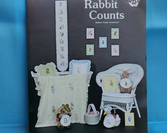 Cross Stitch Pattern Book - Peter Rabbit Counts by Green Apple 517 (S161)