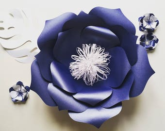 Large Paper Flower Wall Decor