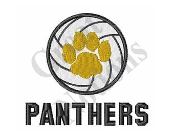 Panthers Volleyball - Machine Embroidery Design
