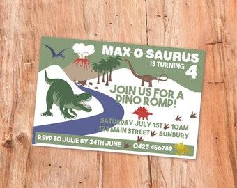 Dinosaur Party Invite, Kids Party Invitations, Dinosaur Party, Printable Invitation, Party Invites, Party Decor, Dinosaur Birthday