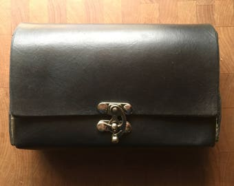 Handmade Leather Belt Pouch with Silver Accents