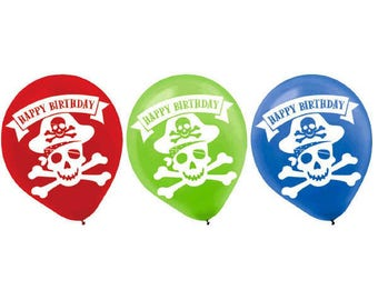 Latex Pirate Party Balloons/ Pirate Birthday Party Balloons/ Pirate Party Decor