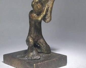 Ofrenda bronze escultura nino