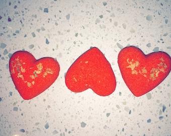 Valentine's Day Heart Shaped Bath Bomb Fizzies
