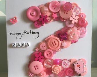 Birthday Cards, Kids Birthday Cards, 1st Birthday, Personalised Birthday Cards, 2nd Birthday, 3rd Birthday, Children's Birthday Cards