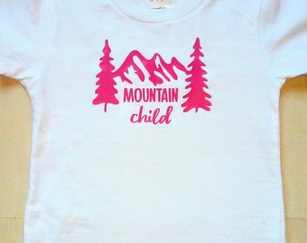 Mountain Child Infant/ Children's Shirt, Mountain, Outdoorsy