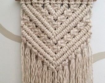 Tricia* Macrame wall hanging, medium macrame hanging, cotton rope, rustic natural wall decor,