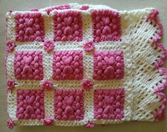 Pink merino wool cover