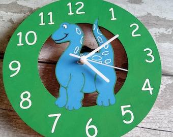 Childrens wall clock, nursery wall clock, bedroom decoration, dinosaur clock, mermaid clock, unicorn clock, castle clock