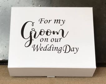 Groom box, Groom gift box, Husband to be gift, For my groom, Gift for my groom, Wedding Keepsake, Memory box